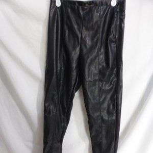 SHINESTAR, small, faux leather pants, side zip